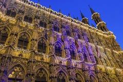 Leuven City Hall in Belgium Royalty Free Stock Photo