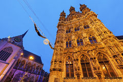 Leuven City Hall on Grote Markt Royalty Free Stock Photography
