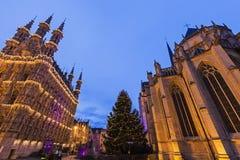 Leuven City Hall on Grote Markt Royalty Free Stock Photos