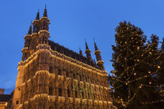 Leuven City Hall on Grote Markt Royalty Free Stock Images
