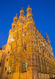 Leuven - Gothic town hall in evening Stock Photography