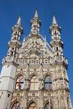 Leuven - Gothic town hall. Facade royalty free stock photo