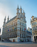 Leuven - Gothic town hall. In morning Royalty Free Stock Photo