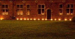 Leuven med stearinljus Royaltyfria Bilder
