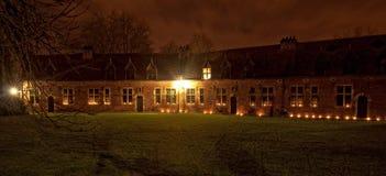 Leuven met kaarsen Stock Foto