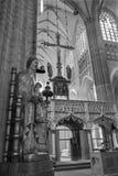 Leuven Nave st. Peters gothic katedra i gothic madonna statua - Zdjęcia Stock
