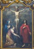 Leuven - Paint of Crucifixion in Sint Jan de Doperkerk Royalty Free Stock Images