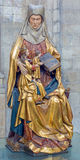 Leuven - Polychrome statue of st. Ann in st. Peters gothic cathedral from early 16. cent. Royalty Free Stock Photos