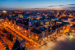 Leuven Skyline by night Royalty Free Stock Photography