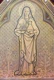 Leuven - szczegół od relikwiarza Margareta Lovainiensis zdjęcie stock