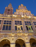 Leuven - University library in evening dusk. On September 3, 2013 in Leuven, Belgium royalty free stock photos
