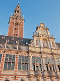 Leuven - University library in evening light Stock Photography