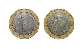 Lev Bulgarie de la pièce de monnaie 1 Photos stock