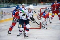 Lev Prague vs torpeden Nizhny Novgorod Fotografering för Bildbyråer
