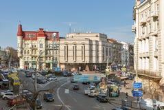 Lev Tolstoy Square in Kiev, Ukraine. Stock Photography