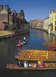 Leva Cambridge del río Foto de archivo