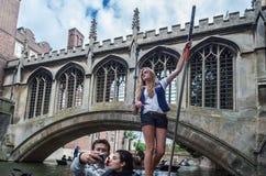 Leva Cambridge Inglaterra del río Fotos de archivo