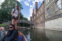 Leva Cambridge Inglaterra del río Imagen de archivo libre de regalías
