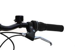 Leva del freno del mountain bike con la campana Fotografie Stock