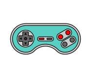 Leva di comando isolata Retro Gamepad Regolatore del videogioco vecchio Immagini Stock Libere da Diritti