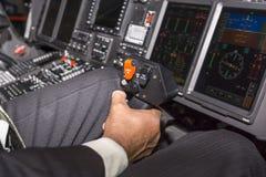Leva di comando per controllare l'elicottero Fotografie Stock Libere da Diritti
