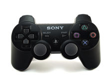 Leva di comando PS3 immagine stock