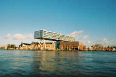 Leva di regolazione Rotterdam, De Brug Fotografia Stock