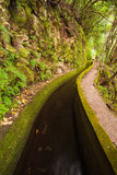 Levada Irrigation Canal. Levada Water Irrigation Canal Flow Stock Image