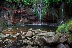 Levada 25 Fontes, Madeira, Portugal Imagen de archivo libre de regalías