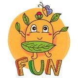 Levaes fun mascot Stock Images