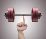 Levage de poids image stock