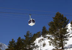 Levage de ski Images libres de droits