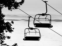 Levage de ski Image stock