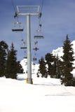 Levage de ski mécanique, mt. Capot Orégon. Image stock