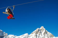 Levage de ski Matterhorn image libre de droits