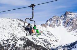 Levage de ski Ski Resort Meribel Photo stock