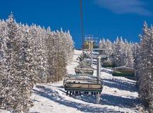 Levage de ski. Station de sports d'hiver Schladming. l'Autriche photo stock