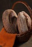 Levain et Rye de pain d'artisan Images stock