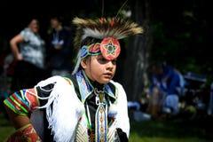 Levande beröm för infödd dag i Winnipeg arkivbild