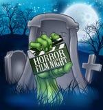 Levande död för fasafilmfilm eller gigantiskt tecken stock illustrationer