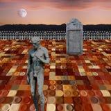 Levande död i den framtida staden vektor illustrationer
