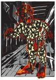 LEVANDE DÖD i pyjamas på nattgatan, vektorillustration royaltyfri illustrationer