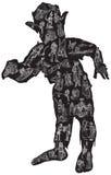 LEVANDE DÖD i pyjamas, vektorillustration freehand royaltyfri illustrationer