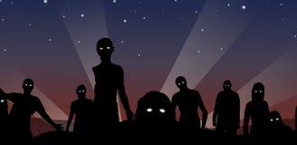 Levande död på midnatt vektor illustrationer