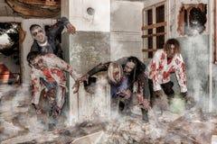 Levande dödattack Fotografering för Bildbyråer