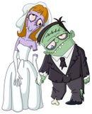 Levande dödbröllop royaltyfri illustrationer