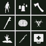 Levande dödsymboler vektor illustrationer