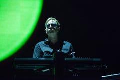 Levande Depeche Mode - Andy Fletcher Arkivbild