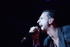 Levande Depeche Mode - David Gahan Royaltyfri Foto