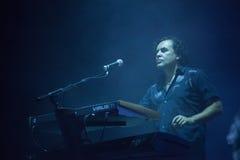 Levande Depeche Mode - Peter Gordeno Arkivbilder